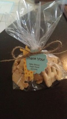 Animal crackers Baby shower favors. Jungle or safari theme.