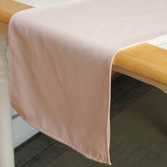 Burlap and Silk - 14 x 108 inch Blush Table Runner, $4.49 (http://www.burlapandsilk.com/14-x-108-inch-blush-table-runner/)