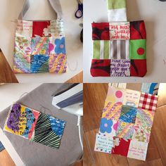 I made these patchwork bags as part of an art therapy class last year. I tend to only do this project with small classes as its very labour intensive but the results are always amazing and I love teaching it. We added in our own handwritten inspirational quote squares which really made a very personal project.    #patchworkbags #sewingproject #patchworkproject #patchwork101 #sewingwithchildren #sewing101 #sewyourown Work Project, Sewing Class, Patchwork Bags, Art Therapy, Squares, Sewing Projects, Patches, Reusable Tote Bags, Inspirational Quotes