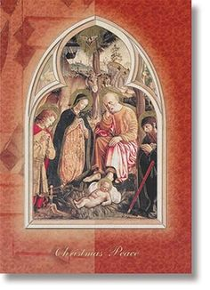 A card full of rich symbolism and Catholic tradition. #keepChristinChristmas