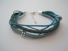 Teal Boho Allsorts Leather Suede & Cord by SimplyByRebecca on Etsy, £13.00