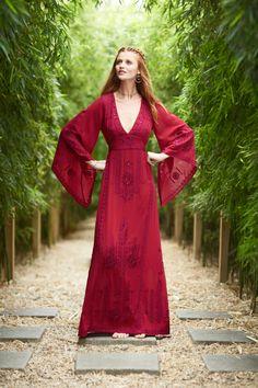 Demme Embellished Silk Caftan