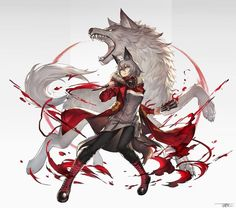 Fanart sub for Arknights, a fantasy tower defense mobile game developed by Hypergryph. Fantasy Characters, Anime Characters, Lobo Anime, Persona Anime, Cool Anime Girl, Cartoon Sketches, Wolf Girl, Anime Wolf, Anime Animals