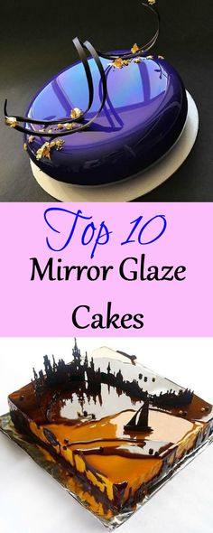 These shiny sensations hit the cake world a few months ago and went absolutely viral! Mirror Glaze Recipe, Mirror Glaze Cake, Mirror Cakes, Chocolate Mirror Glaze, Glaze For Cake, Traditional Wedding Cakes, Chocolate World, Cake Name, Cake Blog