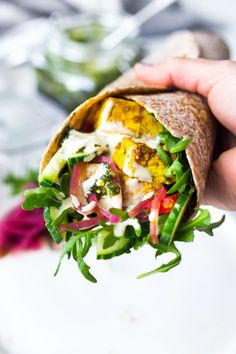 Quick and flavorful Sheet Pan Shawarma Wraps can made with either chicken or tofu (or both!). Turn them into healthy Shawarma Bowls or Shawarma Wraps... your choice!