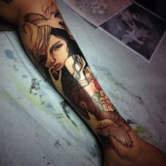 First session lower leg with the art of Audrey Kawasaki. Six hours. Champion client. - @Jeff Gogue- #webstagram