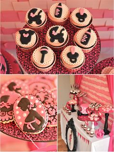 Bird's Party Blog: Pink and Black Glam Baby Shower