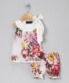 Take a look at this White & Pink Milly Top & Bloomers - Infant by Kaftan Kids on #zulily today!