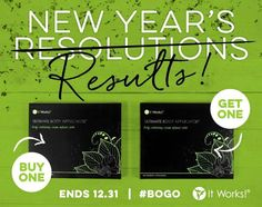 New Year, New YOU!! The #BOGO is BACK!!!  Buy 1 Get one FREE It Works Wraps  Text / Call 520-840-8770
