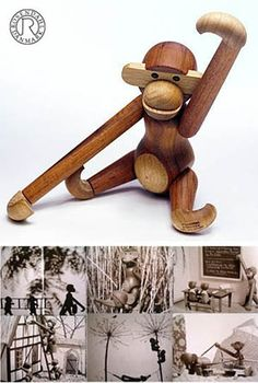 wooden toy monkeys
