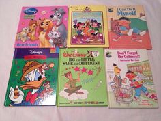 Children's Books Lot of 6 Disney and Sesame Street Home School