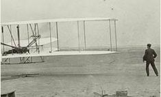 On December 17, 1903, the Wright Flyer became the first powered, heavier-than-air machine to achieve controlled, sustained flight with a pilot aboard.
