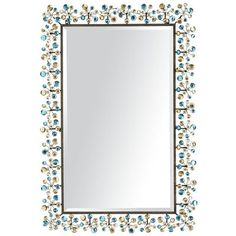 Peacock Dazzle Mirror  - I have a secret..  I have a teal peacock room :)  This mirror is a show piece as are other PIER 1 peacock gems :)  Get it before it's gone!  It's so pretty in person.  This doesn't do it any justice at all.