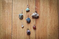 DIY stone pendants