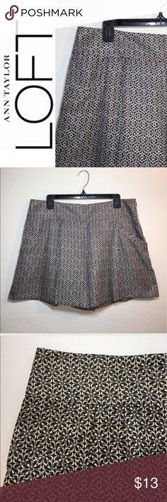 LOFT PLEATED SHORTS ✔️Beautiful Silky Feel: 100% Polyester ✔️Front Pleats ✔️Front Slant Pockets ✔️NEW WITH TAGS! LOFT Shorts