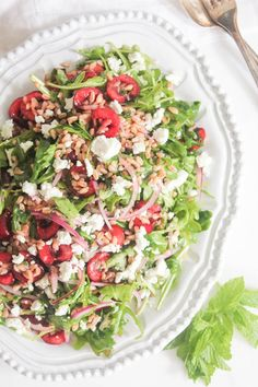 Arugula-and-Farro-Salad-with-Cherries-and-Goat-Cheese-9