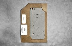 the concrete iPhone 5 skins appear as if they were extracted directly from the moon's surface.
