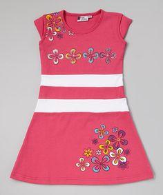 Hot Pink Floral A-Line Dress - Toddler & Girls by Sam de Fleur #zulily #zulilyfinds