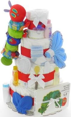 The World of Eric Carle Developmental Caterpillar Diaper Cake(Book Included)