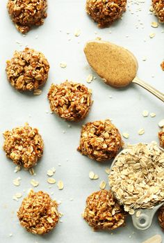 Easy, 30-minute Almond Butter No Bake Cookies with sesame seeds, sunflower seeds, and naturally sweetened with coconut sugar! Healthy but decadent.
