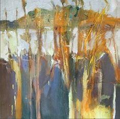 """Winter Garden-Abstract Landscape by Joan Fullerton Oil ~ 24"""" x 24"""""""