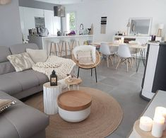 36 Fabulous Modern Scandinavian Living Room Decor Ideas - New ideas Living Dining Room, Home N Decor, Living Room Scandinavian, Home And Living, Apartment Living Room, Home Decor, House Interior, Room Decor, Apartment Decor