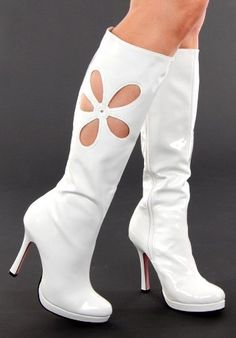 High Heel Go Go Boots....how cute are these????  Oh to be younger......... *sigh.