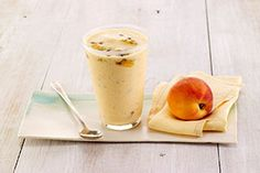 Peach Passionfruit Smoothie #dryjuly