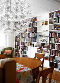 Corner chair! Corner chair! And the books. And the lamp. And the table. Can I have this room?