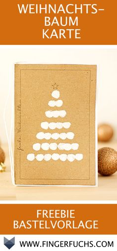 DIY Card Christmas Tree - Free Art Template with Ring Stamping Creative Christmas Cards, Xmas Cards, Diy Cards, Christmas Deco, Winter Christmas, Christmas Crafts, Fingerprint Cards, Craft Gifts, Diy For Kids