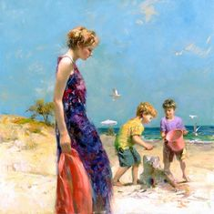 Good ole days - Beautiful Paintings by Pino Daeni | Art and Design Amazing Paintings, Paintings For Sale, Original Paintings, Beach Paintings, Art Paintings, Russian Painting, Russian Art, Beautiful Artwork, Beautiful Drawings