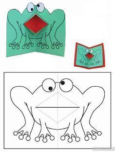Поделки из бумаги для детей с двигающимся ротиком