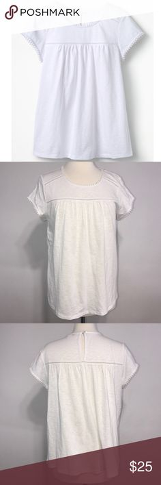 "Boden • White Anastasia Jersey Top Size 10 Boden • White Anastasia Jersey Top Size 10  ▪️Length 25"" ▪️bust 22"" ▪️pre-owned excellent condition Boden Tops Tees - Short Sleeve"
