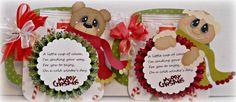 ELITE4U SCRAPPINWMN PREMADE SCRAPBOOK CHRISTMAS  PAPER PIECING TREAT HOLDER