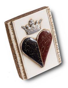 "Heart & Crown Sid Dickens Memory Block - T66  ""Crowning two hearts joined in true love.""  www.siddickens.com"