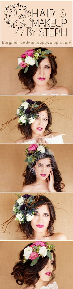 Tips for wearing fresh flowers in your hair for your wedding.