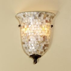Mother of Pearl Pocket Sconce - Shades of Light Nautical Chandelier, Chandelier Lamp, Pendant Lamps, Beach House Lighting, Modern Wall Sconces, Home Decor Inspiration, Decor Ideas, Room Ideas, Decorating Ideas