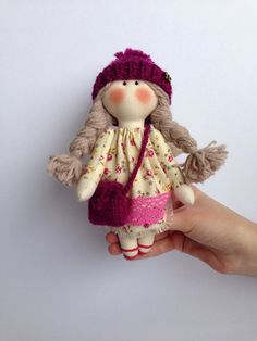 Textile little doll. Doll angel. Home by WorkshopTextileDolls