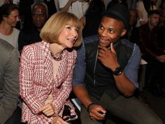 Westbrook and Vogue's Anna Wintour at the Rag & Bone fashion show.