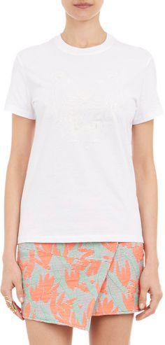Kenzo Tiger Head-Print T-shirt at Barneys.com