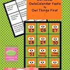 These calendar numbers are a must have for any classroom. Each number comes with an accompanying owl fact. Cut the 2.5 inch owls out and put the fa...