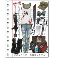 Zombie Apocalypse Fashion: How to Dress for The Undead. #Polyvore