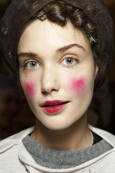 #beauty #backstage @ Vivienne Westwood Fall 2014 #PFW