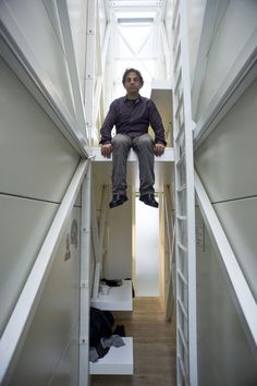 World's Thinnest House: Keret House by Jakub Szczesny \\\ A house that fits between two buildings in a space of four feet? Yes, it's possible to fit a house in a tiny alley that spans only four feet wide and still manages to come complete with all the comforts of (one narrow) home.