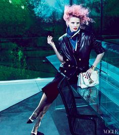 Lara Stone and Joan Smalls: Risky Business. Vogue. July 2012.