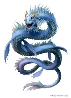 """Creature art from Pathfinder's """"The First World, Realm of the Fey"""" campaign setting. Pathfinder: Ragadahn, The Water Lord Fantasy Monster, Monster Art, Magical Creatures, Fantasy Creatures, Fantasy Beasts, Beautiful Dragon, Dragon Artwork, Dragon Pictures, Fantasy Dragon"""