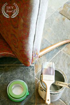 How to Paint upholstered chairs