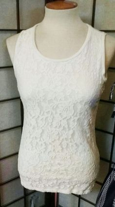 Beige Laced Spring Summer Tank Cami Fashion Boho Top #Talbot #TankCami