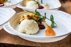 Desserts vom Grill - Rezept für gegrillte Mangos mit Jasminreispüree