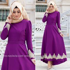 ARAMISS - DRESS - 4744MOR #hijab #naylavip #hijabi #hijabfashion #hijabstyle #hijabpress #muslimabaya #islamiccoat #scarf #fashion #turkishdress #clothing #eveningdresses #dailydresses #tunic #vest #skirt #hijabtrends